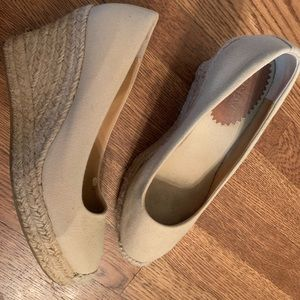 Natural JCrew wedges